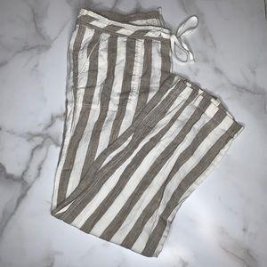 Caslon Linen Striped Drawstring Pants